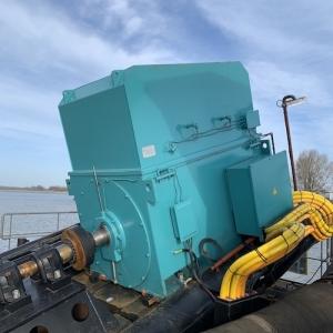 Nieuwe elektromotor voor duurzame zand- en grindwinning is mijlpaal op weg naar -80% CO2-reductie Dekker Grondstoffen
